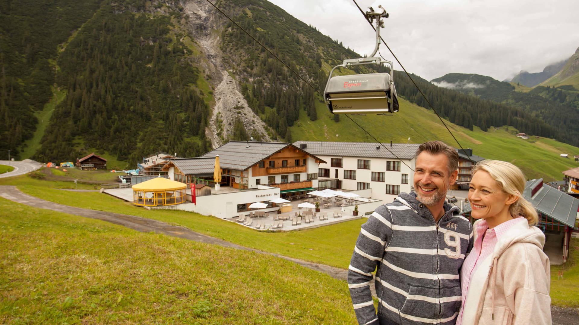 Bergbahnen Warth am Arlberg im Sommer